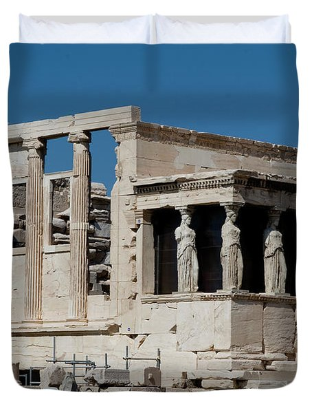 Erechtheion With The Porch Of Maidens Duvet Cover