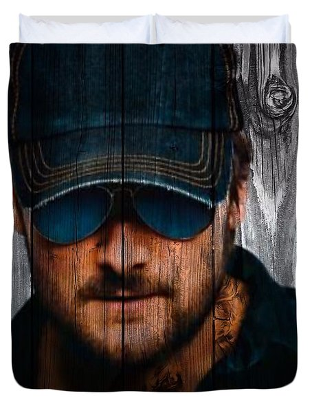 Eric Church Duvet Cover by Dan Sproul