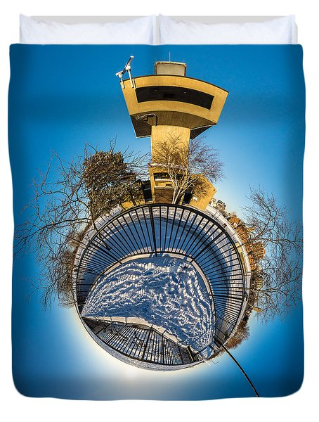 Erie Basin Marina Observation Tower Duvet Cover