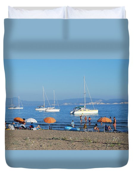 Erikousa Beach One Duvet Cover