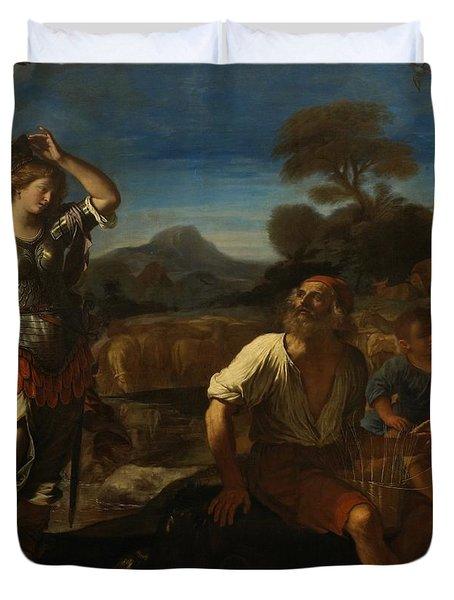Erminia And The Shepherds Duvet Cover by Giovanni Francesco Barbieri