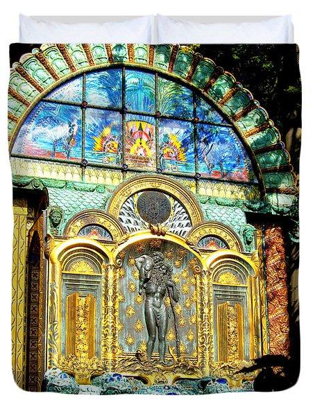 Ernst Fuchs Museum Mural Duvet Cover by Mariola Bitner