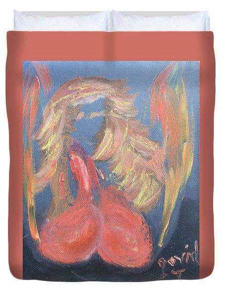 Eros Angel Duvet Cover