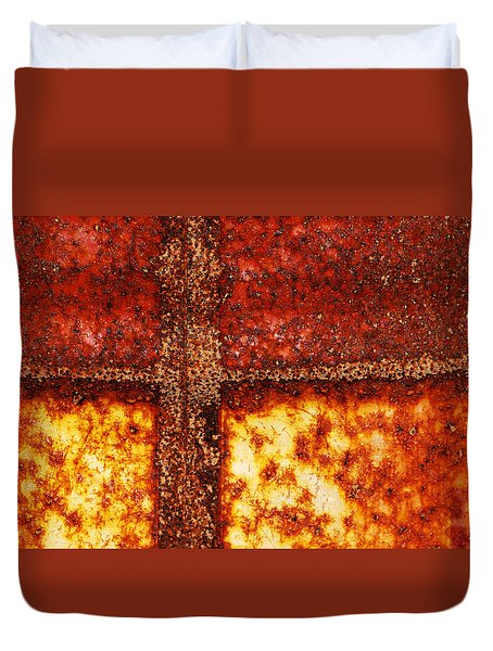 Duvet Cover featuring the photograph Erosion by Wendy Wilton