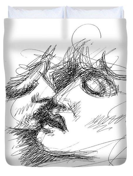 Erotic Art Drawings 15f Duvet Cover