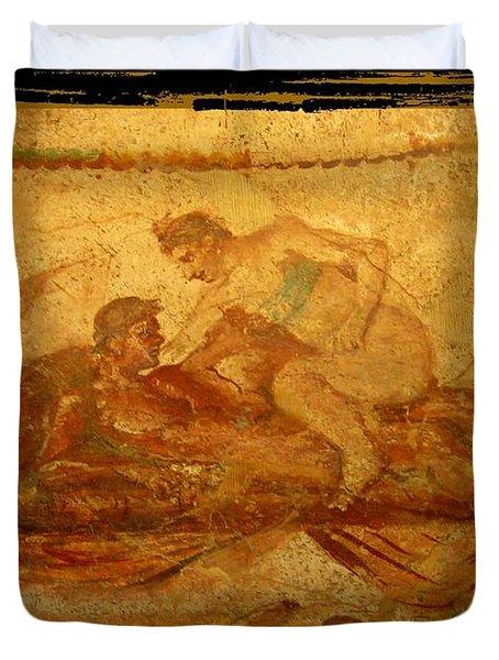 Erotic Art Of Pompeii Duvet Cover by John Malone Halifax Photographer