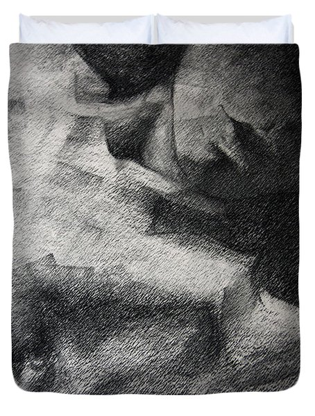 Erotic Sketchbook Page 1 Duvet Cover by Dimitar Hristov