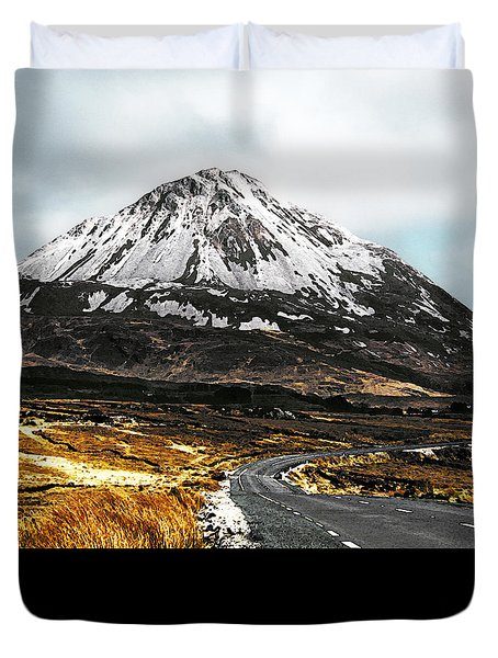 Duvet Cover featuring the photograph Errigal Donegal Ireland by Jane McIlroy