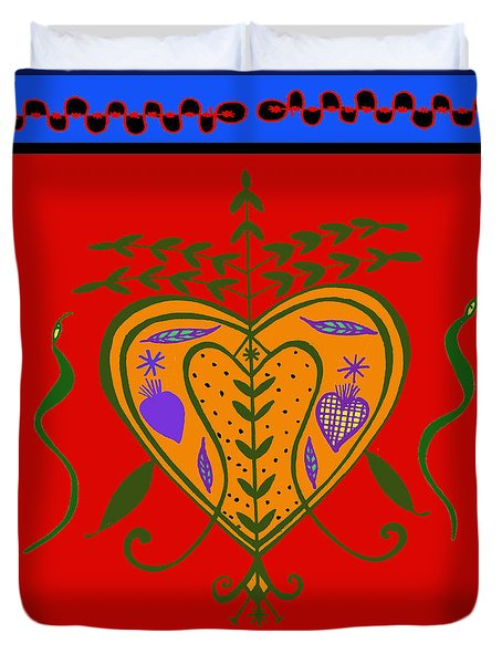Duvet Cover featuring the digital art Erzulie Freda by Vagabond Folk Art - Virginia Vivier