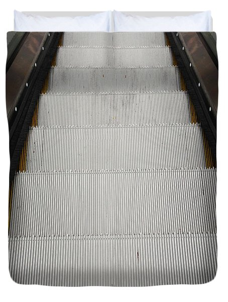 Escalator Duvet Cover by Les Cunliffe