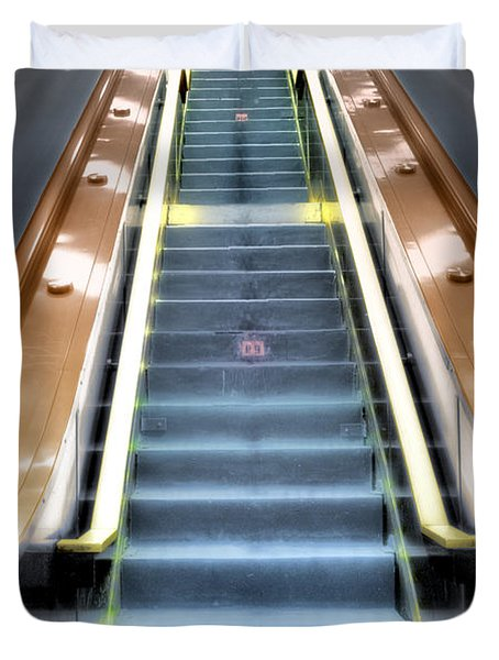 Escalator To Heaven Duvet Cover