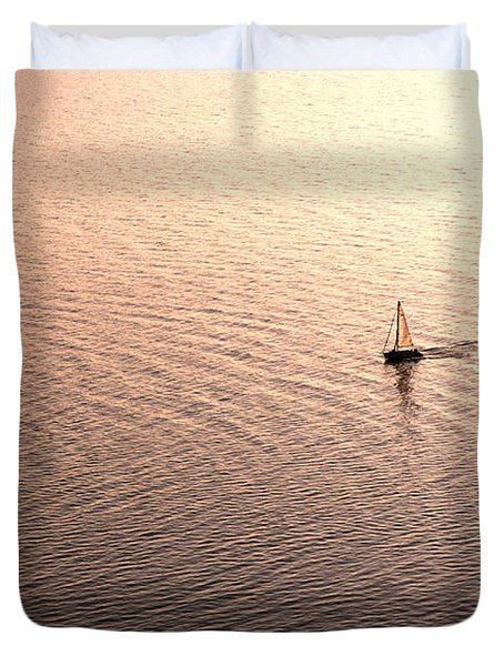 Duvet Cover featuring the photograph Escape by Lana Enderle