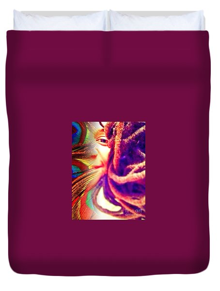 Escaped  Duvet Cover by Fania Simon