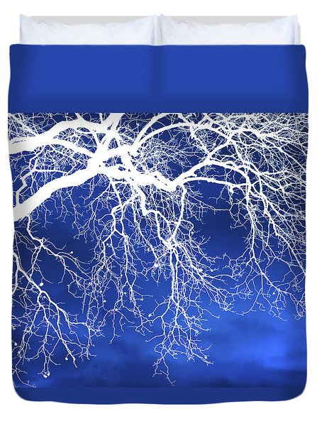 Escaping The Blues Weeping Tree Art Duvet Cover by Christina Rollo