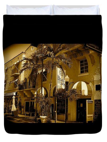 Espanola Way In Miami South Beach Duvet Cover