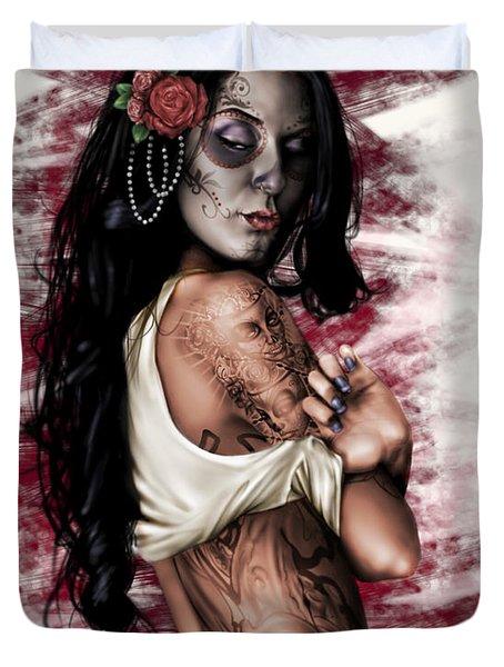 Esperanza Viva Duvet Cover by Pete Tapang