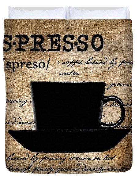 Espresso Madness Duvet Cover by Lourry Legarde
