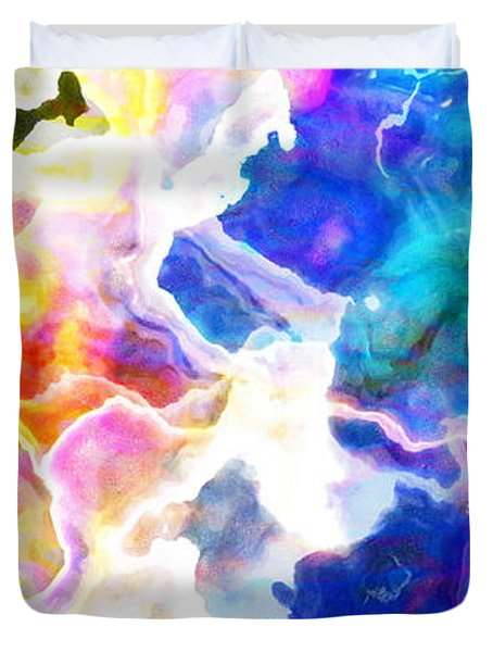 Essence - Abstract Art Duvet Cover by Jaison Cianelli