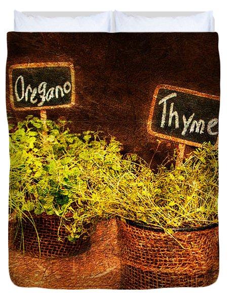 Essential Herbs Duvet Cover