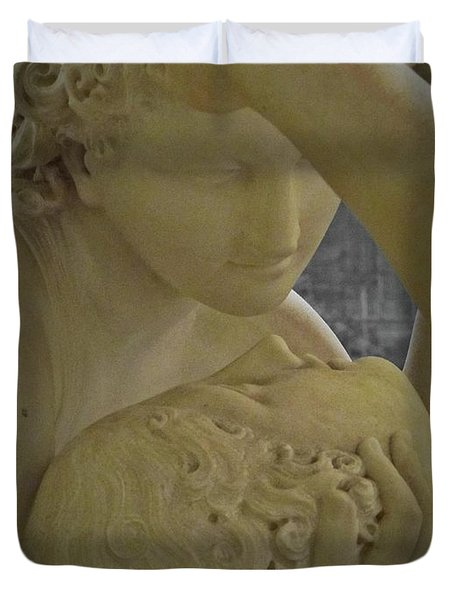 Eternal Love - Psyche Revived By Cupid's Kiss - Louvre - Paris Duvet Cover