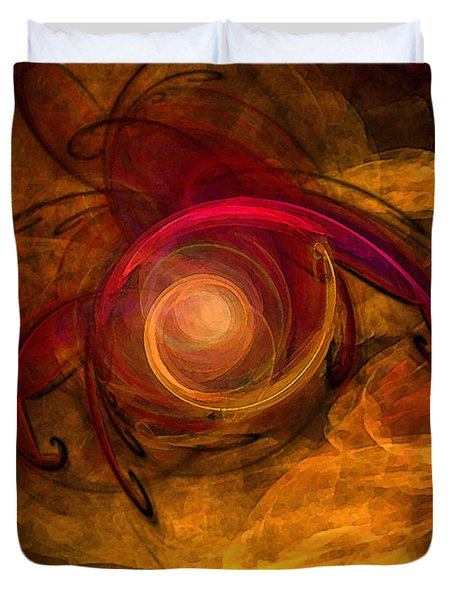 Eternity Of Being-abstract Expressionism Duvet Cover