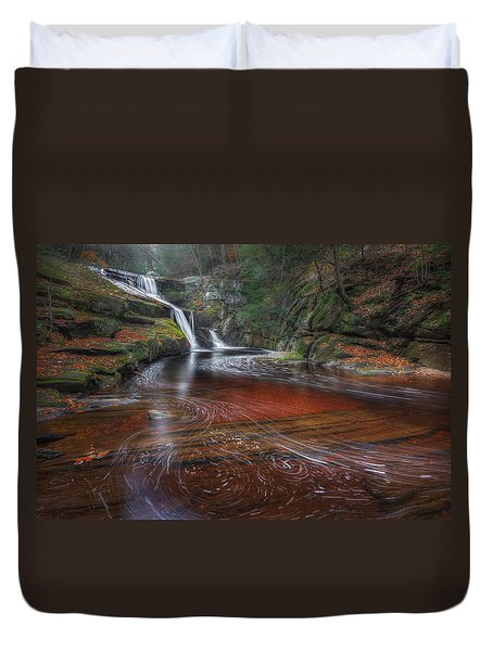 Duvet Cover featuring the photograph Ethereal Autumn by Bill Wakeley
