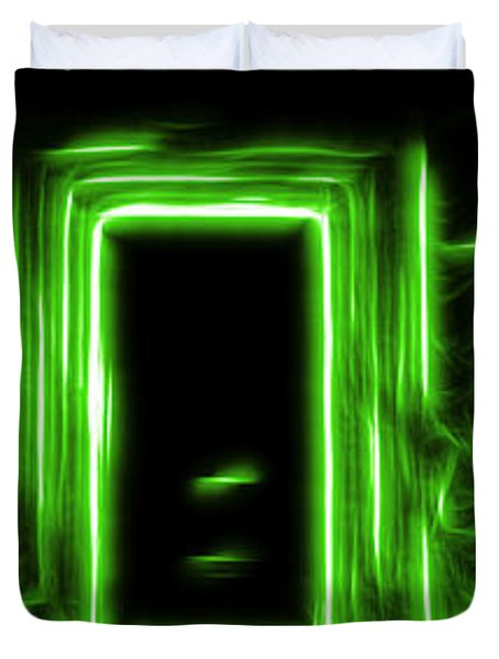 Ethereal Doorways Green Duvet Cover