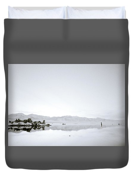 Ethereal Mono Lake Duvet Cover by Shaun Higson