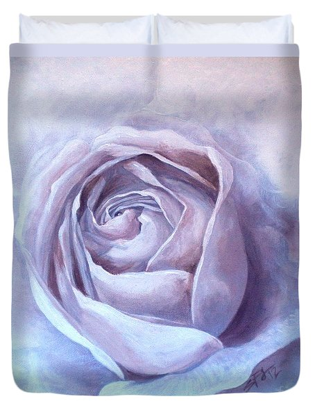 Ethereal Rose Duvet Cover