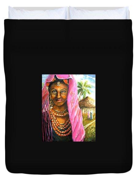 Ethiopia Bride Duvet Cover by Bernadette Krupa