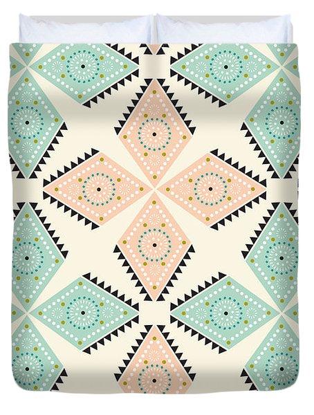 Ethnic Folk Print Duvet Cover