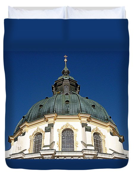 Ettal Abbey Bavaria Duvet Cover by The Creative Minds Art and Photography