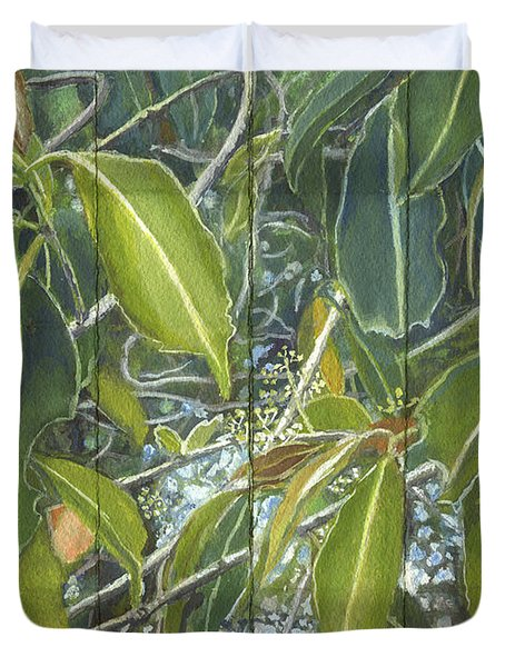 Euca - Leaves Section Duvet Cover by Kerryn Madsen-Pietsch