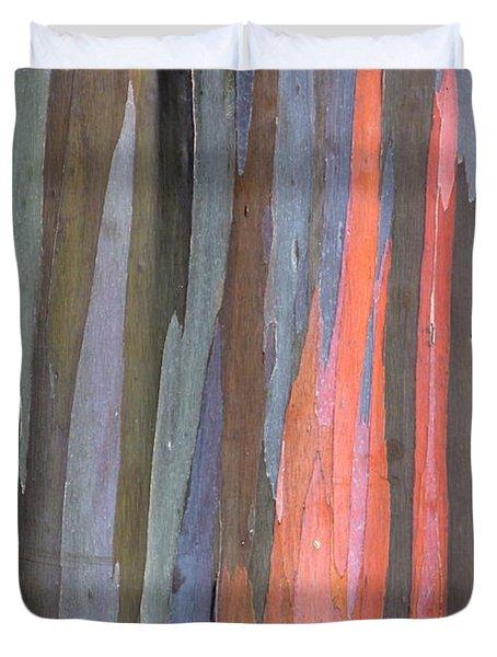 Eucalyptus Tree Bark Duvet Cover by Karon Melillo DeVega