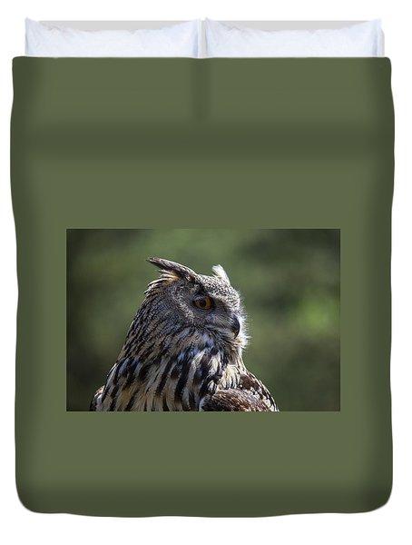 Eurasian Eagle-owl Duvet Cover by Garry Gay
