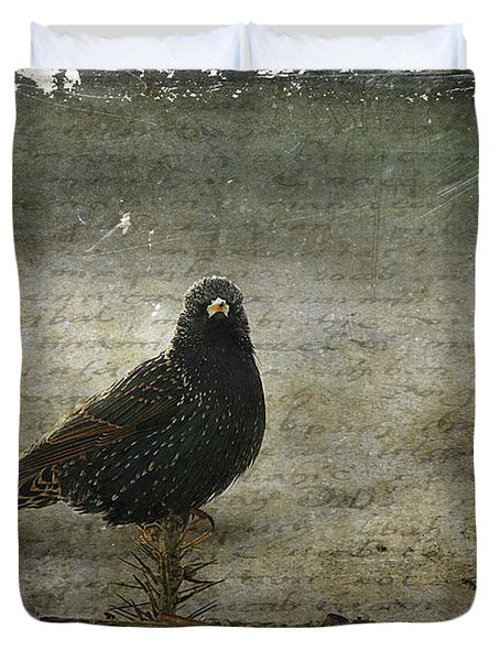 European Starling Duvet Cover