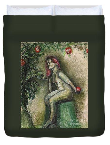 Eve In The Garden  Duvet Cover