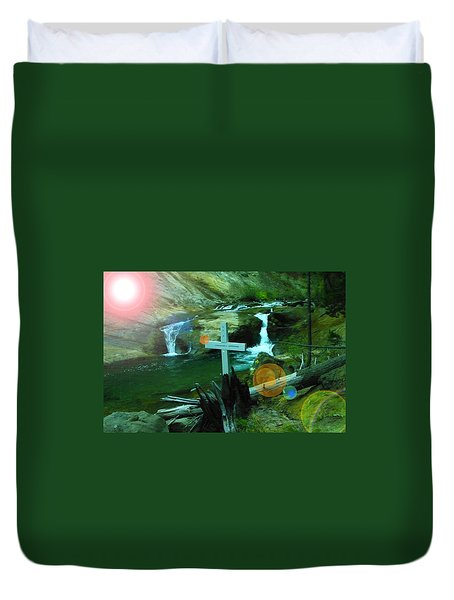 Even After The Ashes Love Remains  Duvet Cover by Jeff Swan