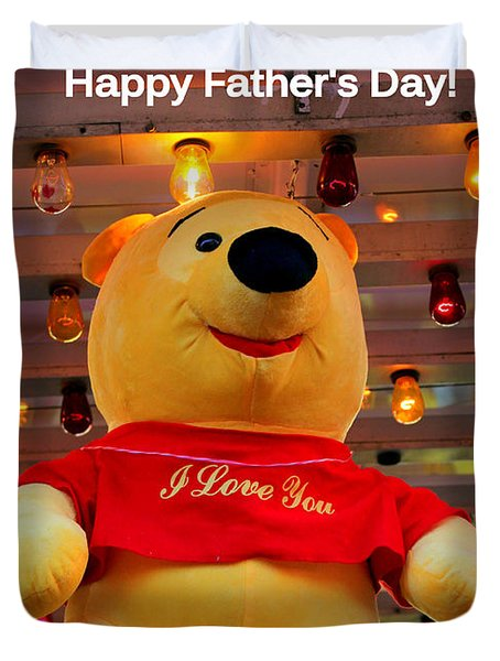 Even Pooh Knows Card Duvet Cover