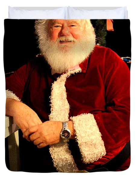 Even Santa Needs A Break Duvet Cover