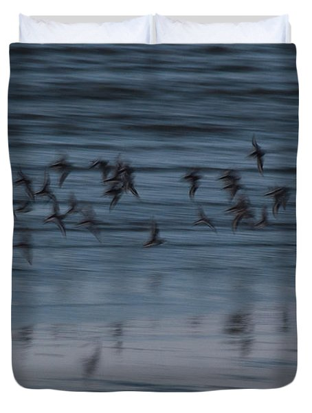 Duvet Cover featuring the photograph Evening Abstract by Alex Lapidus