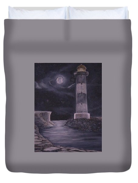 Evening At Point Lookout Duvet Cover