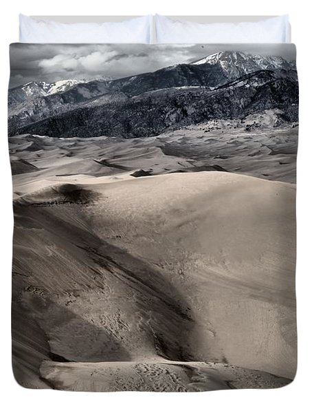 Evening At The Dunes Duvet Cover by Adam Jewell
