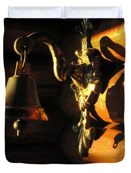 Duvet Cover featuring the photograph Evening Bell by Leena Pekkalainen