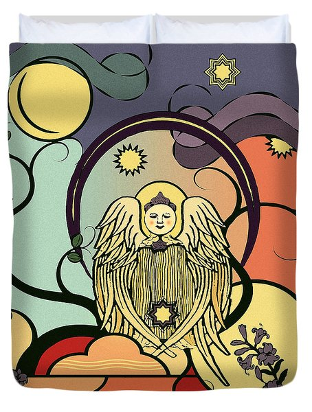 Evening Comforts Nouveau Abstract Duvet Cover