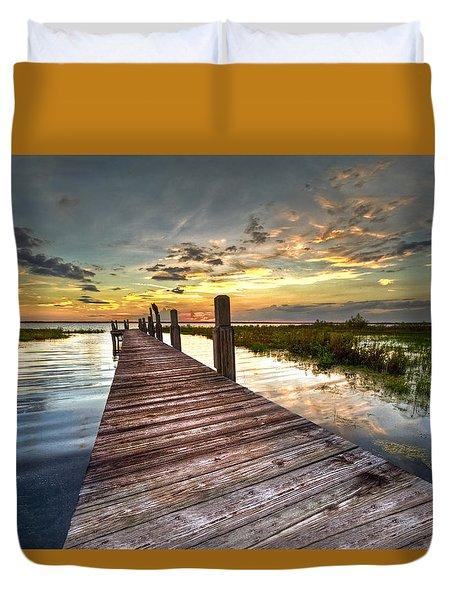 Evening Dock Duvet Cover