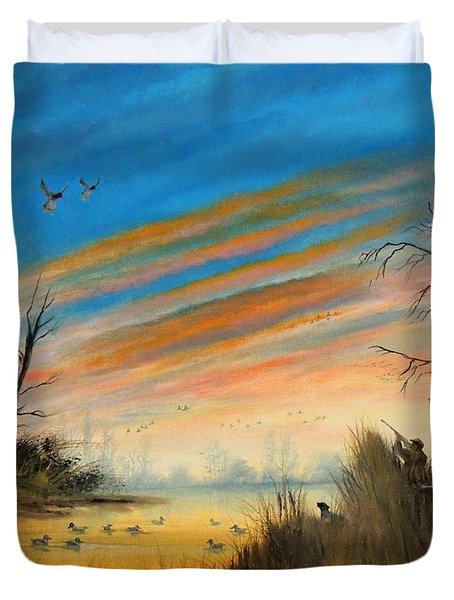 Evening Duck Hunt Duvet Cover