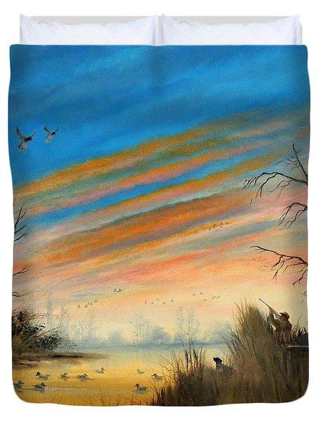 Evening Duck Hunt Duvet Cover