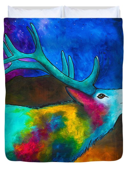 Evening Elk Duvet Cover