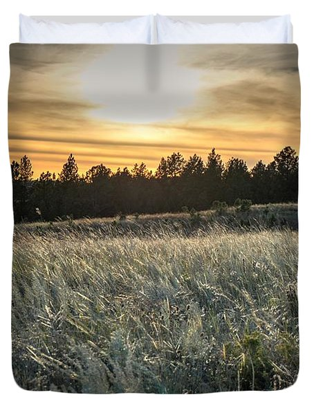 Duvet Cover featuring the photograph Evening Grasses In The Black Hills by Bill Gabbert